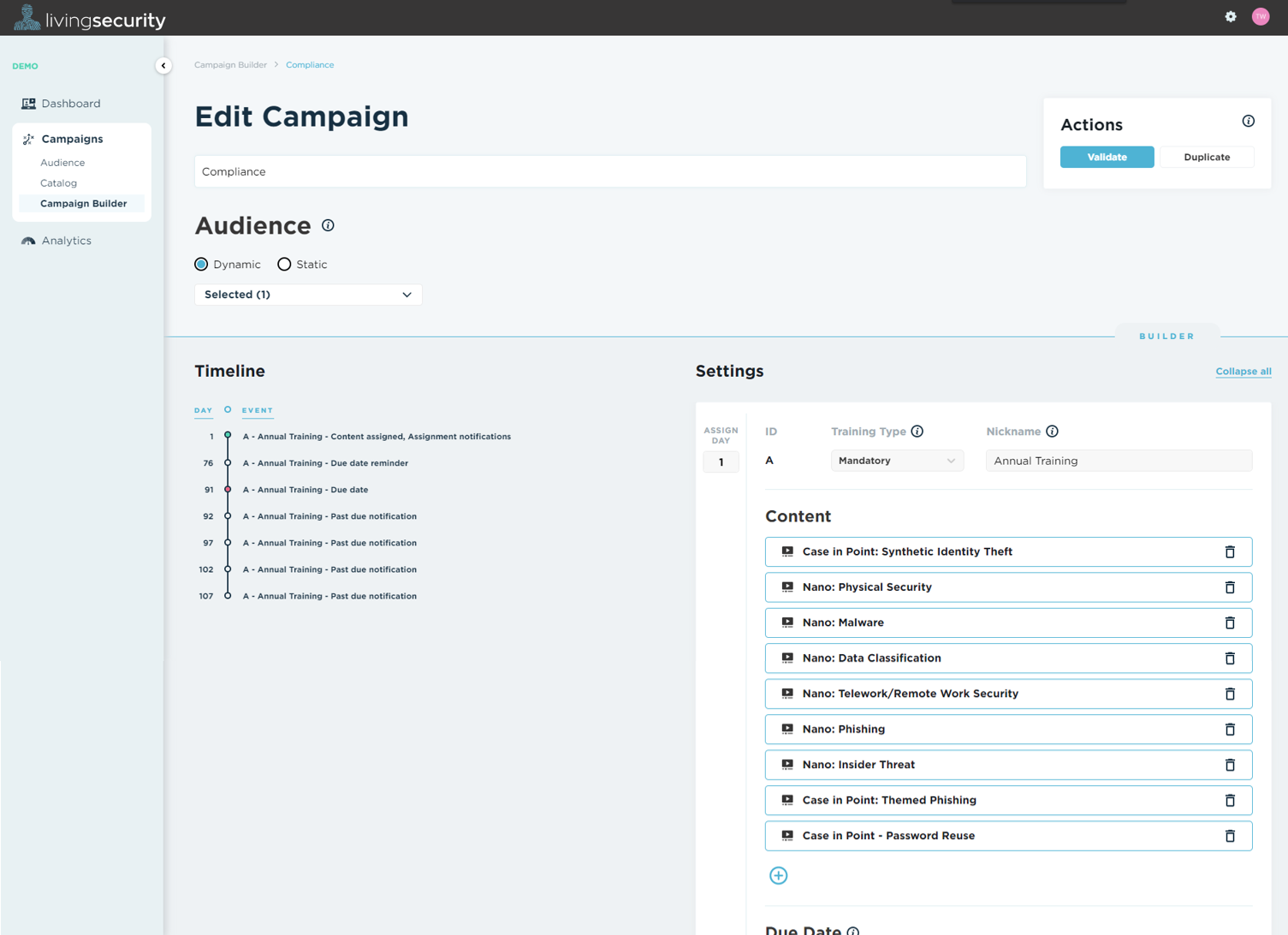 Campaign Builder screenshot