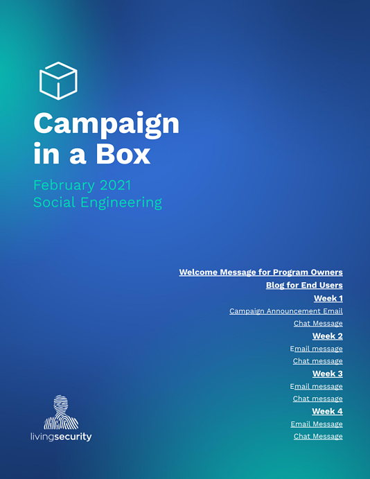 February Campaign-in-a-Box - Social Engineering