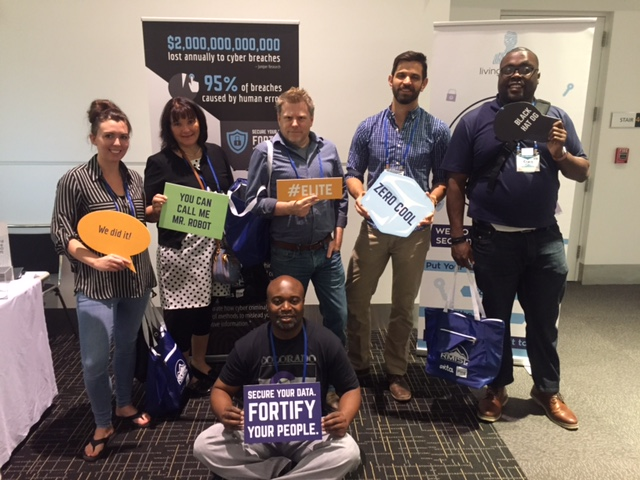 The attendees at RMISC 2018 could not get enough of The Living Security Escape Room! We had a wait list of participants for every room and even had one gentleman ask if he could go back through a second time!