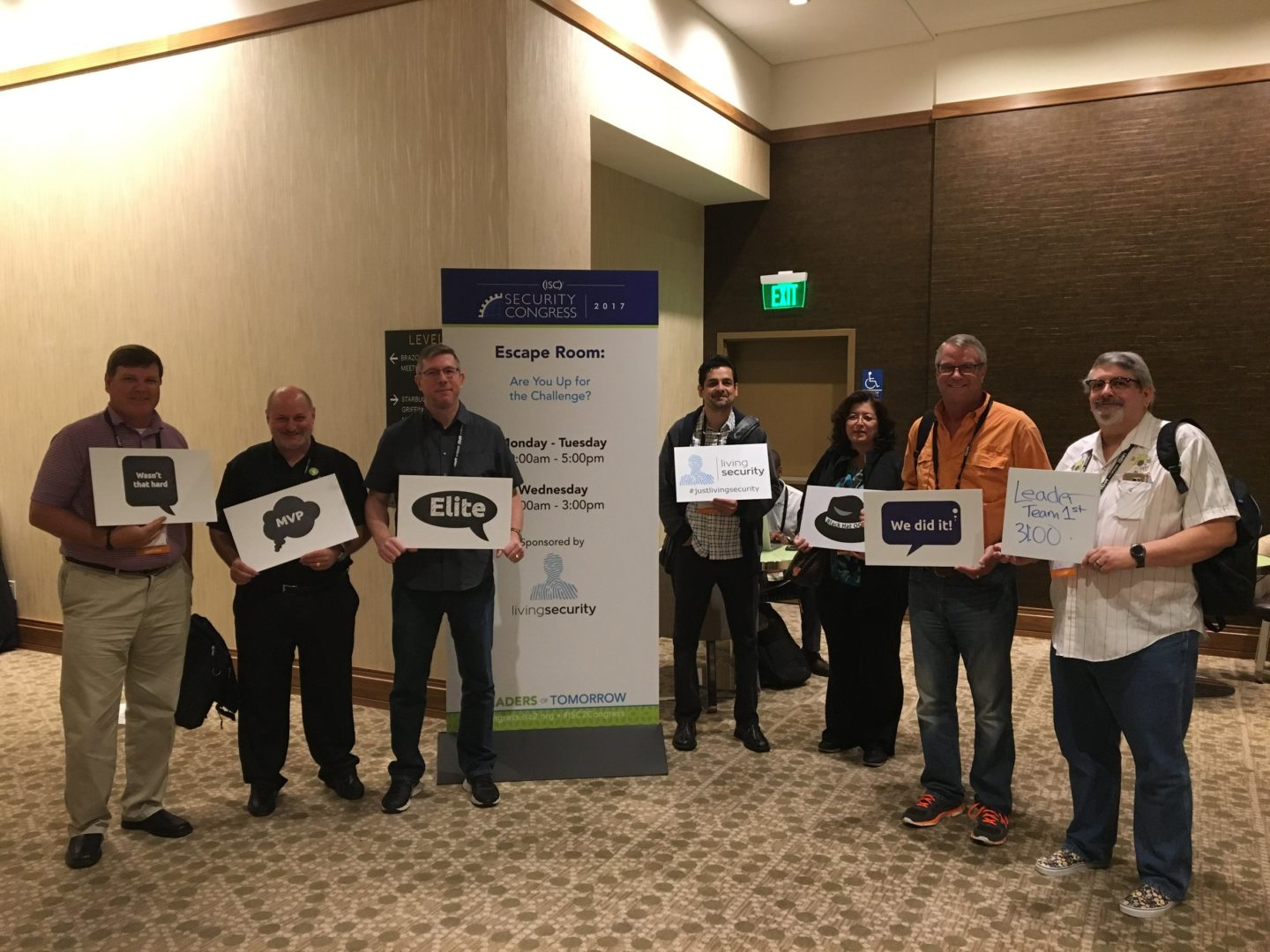 Living Security hosts The Security Escape Room at the (ISC)² Security Congress_13