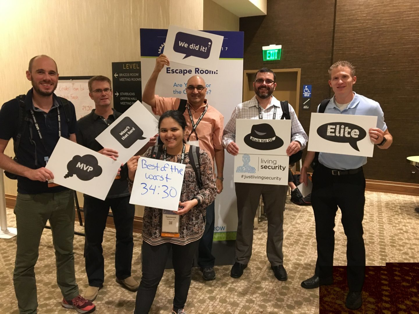Living Security hosts The Security Escape Room at the (ISC)² Security Congress_10
