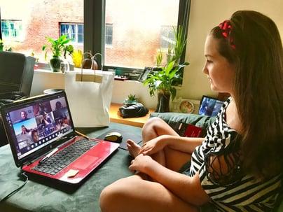 children doing cyberescape online training